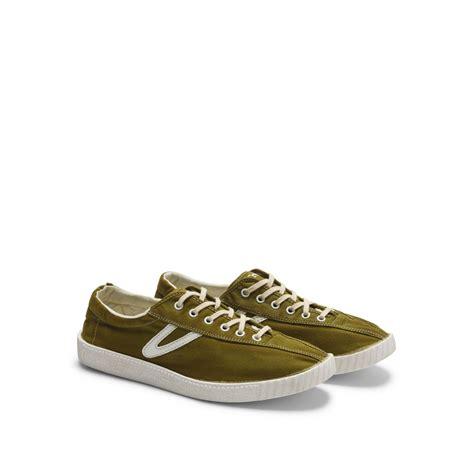 club monaco tretorn nylite canvas sneaker in green for