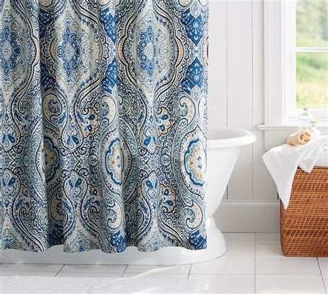 shower curtain paisley beale paisley shower curtain pottery barn