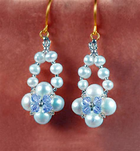 free patterns for beaded earrings free pattern for beautiful beaded earrings ella magic