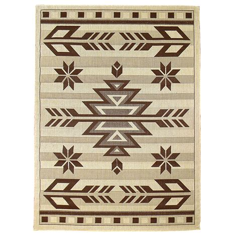 area rugs southwestern design donnieann bahamas 672 beige color southwestern design 5 x7 indoor outdoor area rug home