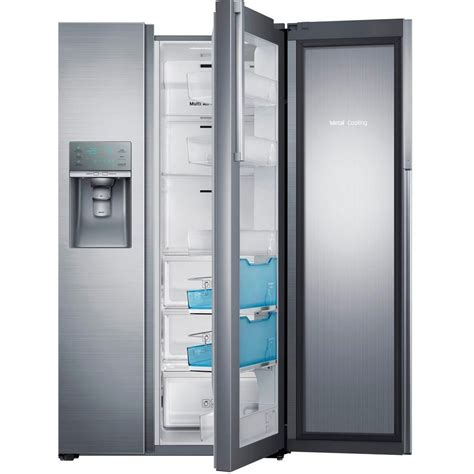 samsung 22 cu ft side by side refrigerator in stainless
