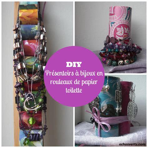 Diy Rangement Papier Toilette by Diy Pr 233 Sentoirs 224 Bijoux En Rouleaux De Papier Toilette