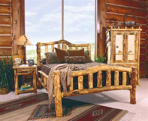 log bedroom furniture rustic log bedroom furniture log furniture bed