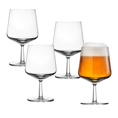 cool glassware iittala essence beer glasses set of 4 unique gifts for him