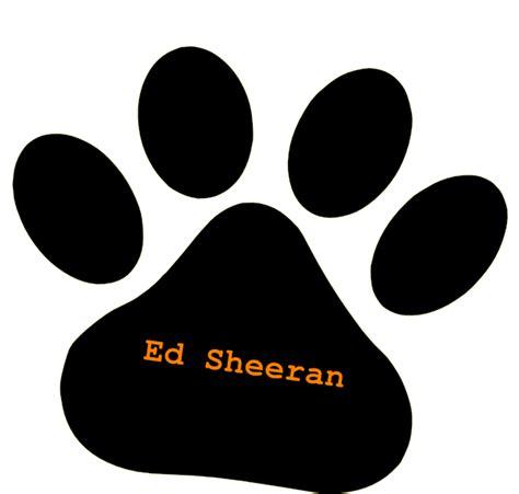 ed sheeran logo black pet paw ed sheeran orange text clip art at clker
