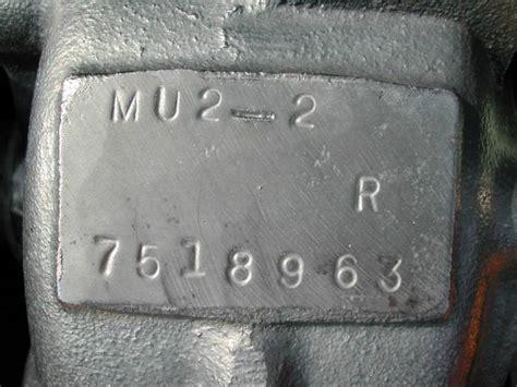 mu2 winch number