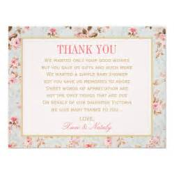 flat thank you notes vintage garden paper