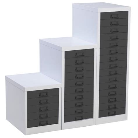 Silverline Multi Drawer Cabinets by White And Black Multidrawer Filing Cabinet 15 Drawers