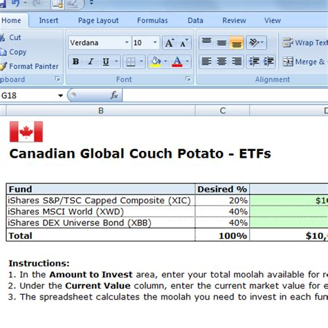 couch potato etf free spreadsheet mac worksheets free excel spreadsheets