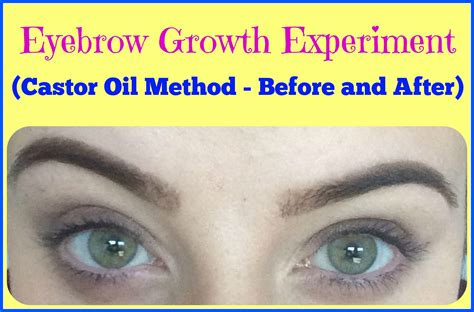 how long before brows grow back with coconut oil experiment does castor oil make eyebrows grow before and