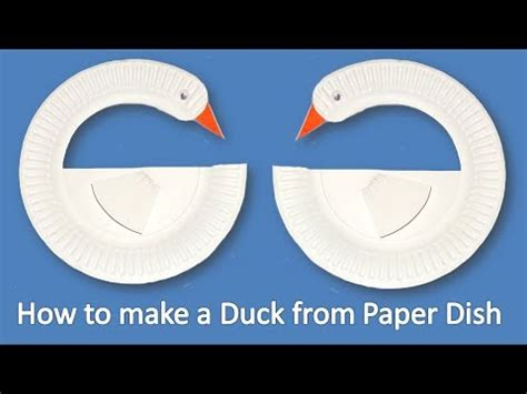 How To Make A Paper Duck - how to make a duck from paper dish