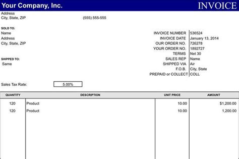 general invoice template invoice template free premium templates