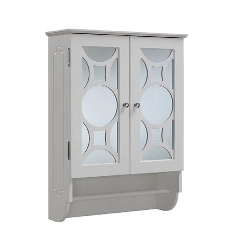 wall cabinet with towel bar white runfine 24 in w x 32 in h x 9 1 4 in d bathroom storage