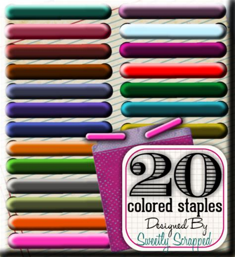 colored staples sweetly scrapped 20 different colored staples and tutorial