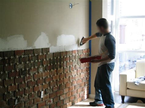 Adding An Interior Wall by Installing An Interior Brick Wall Aka The Warehouse