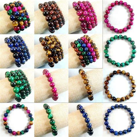 colorful bracelets handmade colorful tiger s eye gemstone