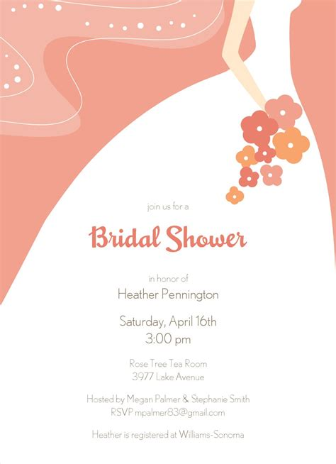bridal shower invitations free clipart for bridal shower invitations