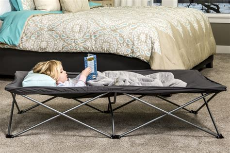 regalo my cot portable toddler bed gray extra long my cot portable toddler bed model 5008