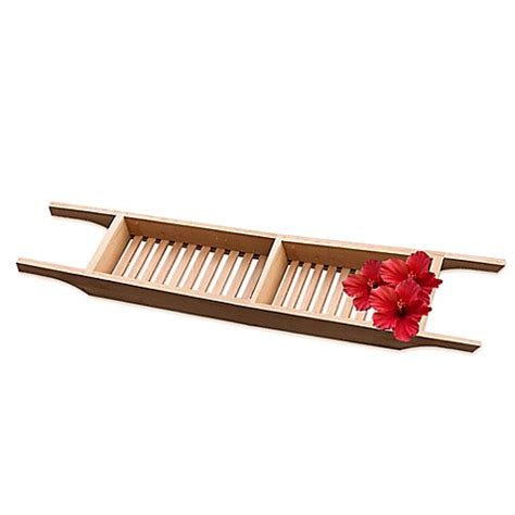 Taymor Bathtub Caddy | taymor 174 teak bathtub caddy bed bath beyond