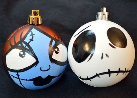 nightmare before christmas jack and sally ornament set