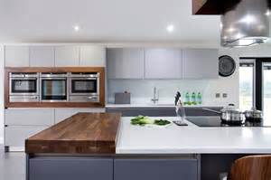 walnut grey schuller kitchen contemporary kitchen