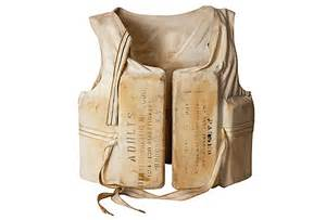 Table Linen For Sale - vintage life jacket omero home