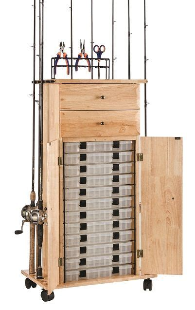 Fishing Rod Storage Cabinet Rod Rack Fishing And Storage Cabinets On