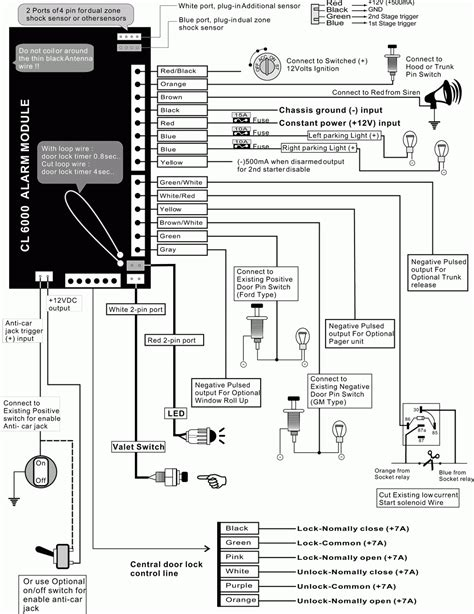 tamarack car alarm system manual wiring diagrams wiring
