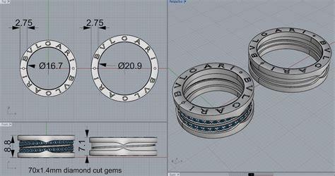 bvlgari ring 070 3d model stl 3dm luxury helix rings 3d model 3d printable stl 3dm