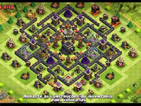 youtube layout para guerra cv 8 clash of clans melhor layout cv8 guerra war base th8