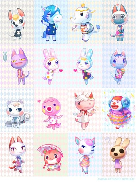 list of acnl characters animal crossing villagers animal crossing art