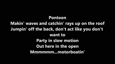 little big town pontoon lyrics youtube - Pontoon Lyrics