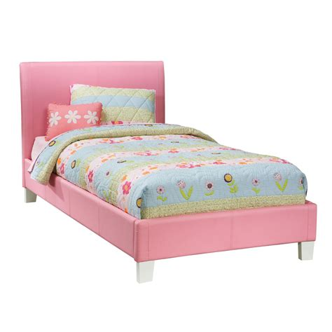 pink platform bed standard furniture fantasia upholstered platform bed in