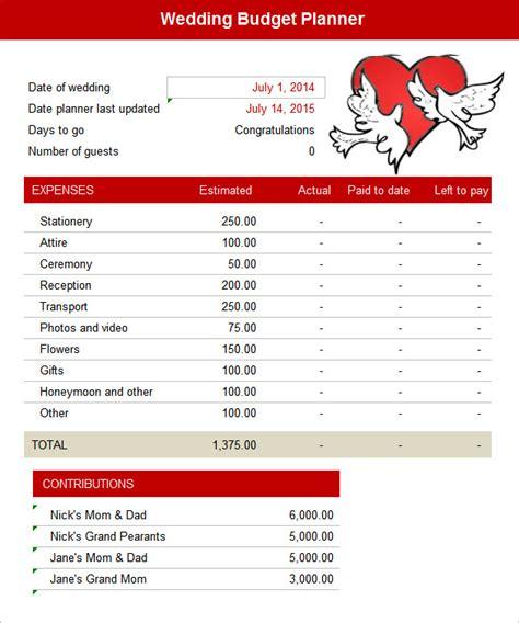 wedding budget calculator saving money for a wedding