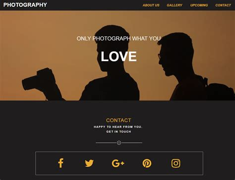 photography template responsive muse templates widgets