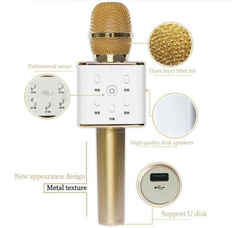 Microphone Q7 Bluetooth Wireless Portable Karaoke 2 q7 karaoke ktv mic portable wireless end 2 17 2018 1 15 am