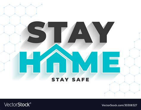 stay home stay safe message  virus protection vector image