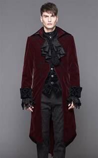 devil fashion gothic clothing mens burgundy velvet dorian