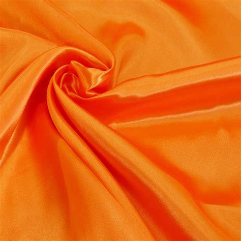 4m breit kreativstoff satinstoff einfarbig orange 1 4m breite alle