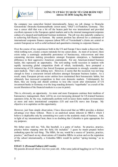 Mizzou Mba Personal Statement by B 224 I Luận Mẫu Statement Of Purpose