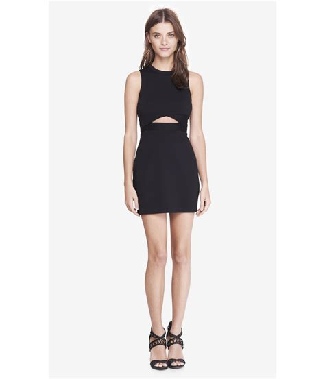 Dress Mini express black cut out mini sheath dress in black lyst