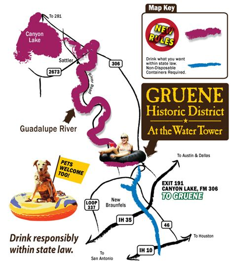 map of gruene texas gruene historic district toobin