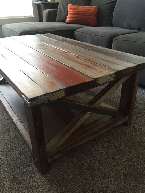 White Rustic Coffee Table White Rustic Coffee Table Diy Projects