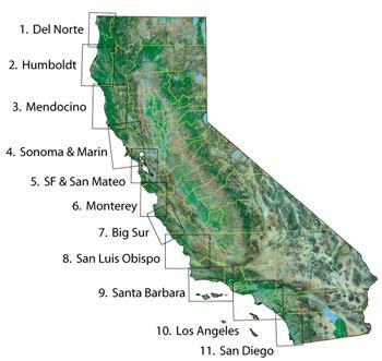 bluewater maps of coastal california