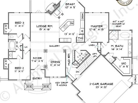 ranch house floor plans with dimensions bitdigest design elegant 4 bedroom ranch house plans with walkout basement