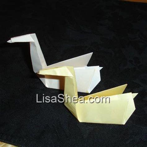Money Origami Swan - origami swan handmade origami designs