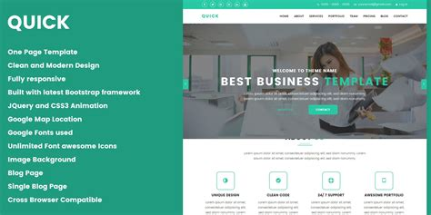 html quick design quick creative design agency html template business