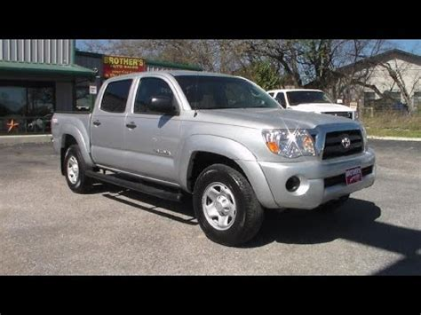toyota tacoma sr double cab  cylinder review youtube