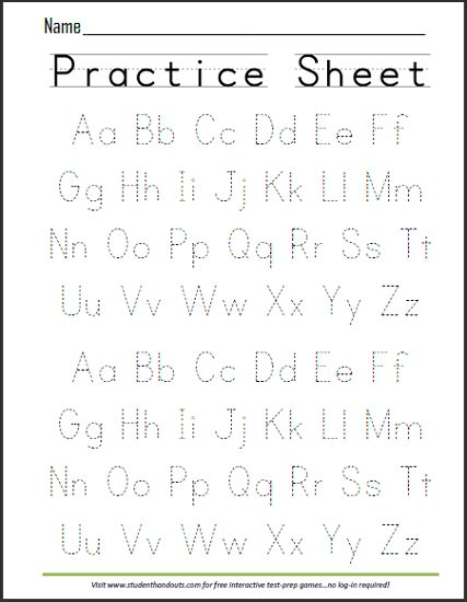 alphabet worksheets year 1 print abcs dashed handwriting practice worksheet pinteres