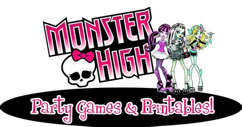 monster high printable party decorations awesome monster high party games diy and printables